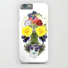 Skull Flowers Slim Case iPhone 6s