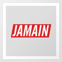 Who's Jamain Icon Art Print