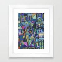 Cool Spectrum Framed Art Print