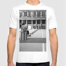 Full speed ahead into the wall SMALL White Mens Fitted Tee