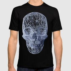 Skull Black Mens Fitted Tee SMALL