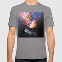 SUPERNOVA Mens Fitted Tee Tri-Grey SMALL