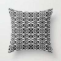 Black And White Tile 6/9… Throw Pillow