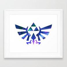 The Legend Of Zelda Trif… Framed Art Print