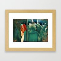 Downtown Train Framed Art Print