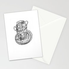 Stacked Tea Cups Stationery Cards