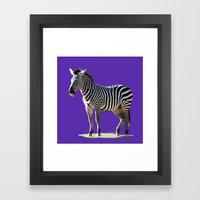 Designer Zebra Framed Art Print