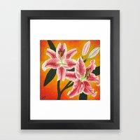 Stargazer Lilies Framed Art Print
