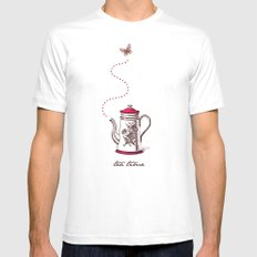 Tea time SMALL White Mens Fitted Tee