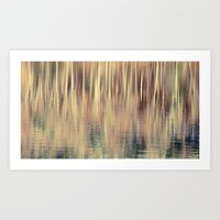 Abstract Trees Vintage S… Art Print