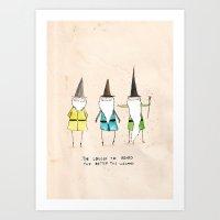 The longer the beard the better the wizard  Art Print