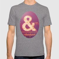 Neon Ampersand Mens Fitted Tee Tri-Grey SMALL