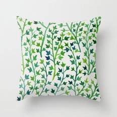Summer Ivy Throw Pillow