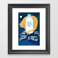 Big Cat Milk Framed Art Print
