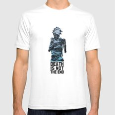 Death is not the end Mens Fitted Tee White SMALL