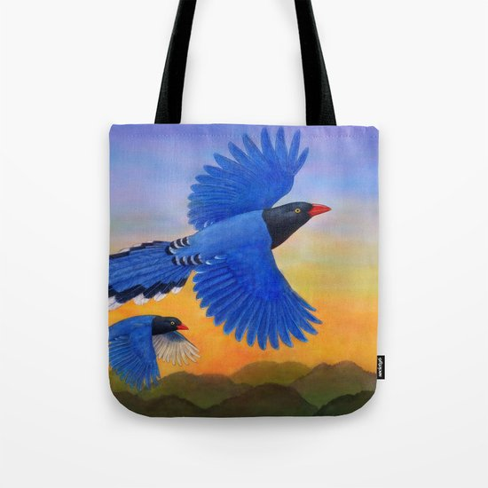 Taiwan Blue Magpie(1) Tote Bag