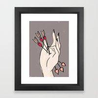 Arrow Hand Framed Art Print