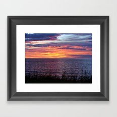 Sunset Delight In Sainte… Framed Art Print