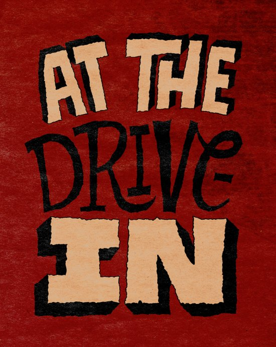At the Drive-In Art Print