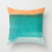 Water and color 11 Throw Pillow