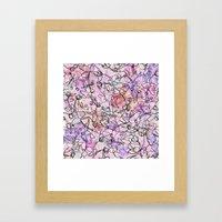 Scattered Floral Framed Art Print