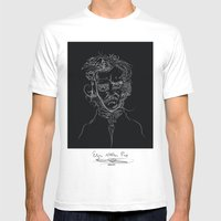 EdgarBlack Mens Fitted Tee White SMALL