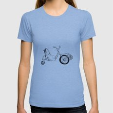 Spin Bike Womens Fitted Tee Athletic Blue SMALL