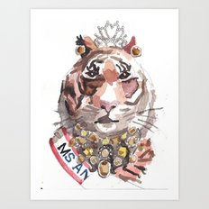 Pageant Tiger Art Print