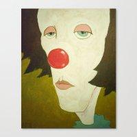 Johnny The Clown Canvas Print