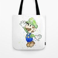 Luigi Watercolor Art Tote Bag