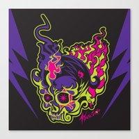 Canvas Print featuring Skull 1.0 by HanYong
