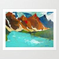 Moraine Lake, Alberta Ca… Art Print