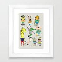 skateboarders, skaters, skateboard,  Framed Art Print