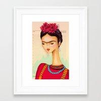 Icons / Frida Framed Art Print