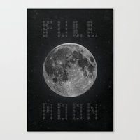 Full Moon Calendar Canvas Print