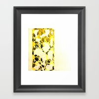 Floral Yellow Framed Art Print