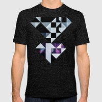 Qyxt Mens Fitted Tee Tri-Black SMALL