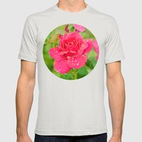 Rose After Rain Mens Fitted Tee Silver SMALL