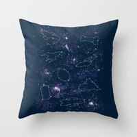 Star Ships Throw Pillow