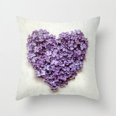 Summer Heart Throw Pillow
