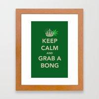 Keep Calm And Grab A Bon… Framed Art Print