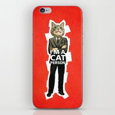 Cat Person iPhone & iPod Skin