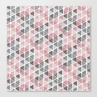 Diamond Floral Pattern Canvas Print