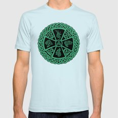 Celtic Nature Mens Fitted Tee Light Blue SMALL