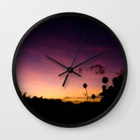 Beautiful Multi Colored Sunset Wall Clock