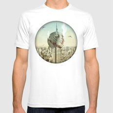 impaled on the empire White SMALL Mens Fitted Tee