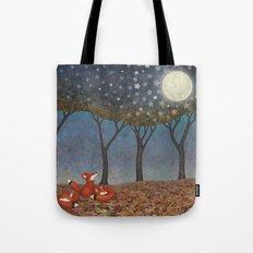 Sleepy Foxes Tote Bag