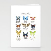 Exotic Moths Stationery Cards