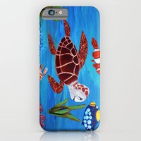 iPhone & iPod Case featuring Swimming in the sea  by maggs326