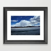Mountain Clouds Over Icy… Framed Art Print
